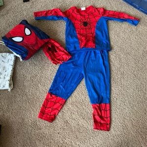 Small Spider-Man costume and pillow!